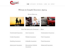 Campbell Insurance Agency Website